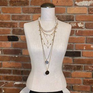 WHBM Convertible Multi Chain Necklace